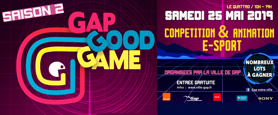 Gap Good Game - Animations et compétition e-sport le 25 mai à Gap au Quattro