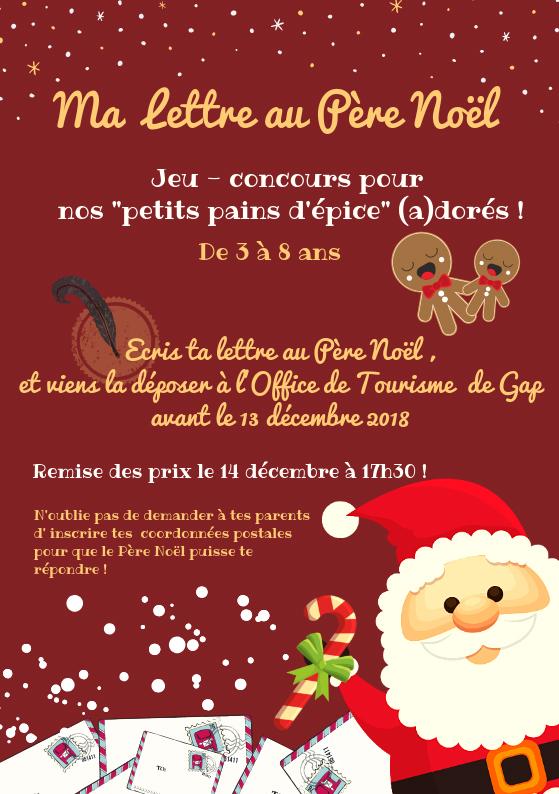 Site Lettre Au Pere Noel.Concours Pour Enfants Ma Lettre Au Pere Noel Ville De Gap